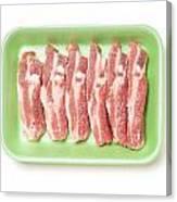 Pork Ribs In Foam Tray Canvas Print