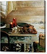 Pork With Candles Canvas Print