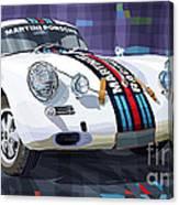 Porsche 356 Martini Racing Canvas Print