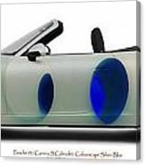 Porsche 911 Colourscape Sivler-blu Canvas Print