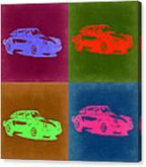 Porsche 911 Pop Art 3 Canvas Print