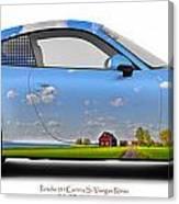 Porsche 911 Visingsoe Roenaes Canvas Print