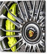 Porsche 918 Wheel Canvas Print