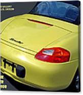 Porsche Boxster Posterior Canvas Print