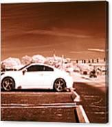 Porsche Car Side Profile Brown Near Infrared  Canvas Print