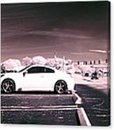 Porsche Car Side Profile Pink Near Infrared Canvas Print