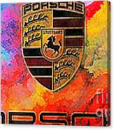Porsche In Abstract Canvas Print
