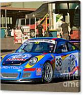 Porsche In The Pits Canvas Print