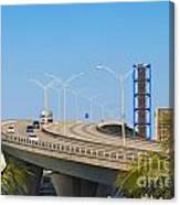 Port Boulevard Bridge Miami Canvas Print