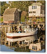 Port Clyde Maine Boats And Harbor Canvas Print