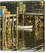 Port Clyde Maine Small Boat And Harbor Canvas Print