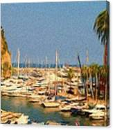 Port De Fontvieille Canvas Print