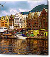 Port Life Canvas Print