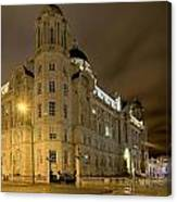 Port Of Liverpool Building Canvas Print