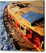 Port Side Down Captain - Outer Banks Canvas Print