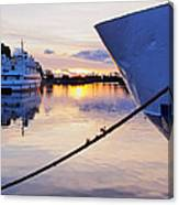 Port Sunrise Canvas Print