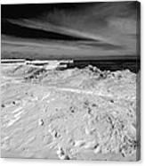 Port Washington - South Beach B-w  Canvas Print