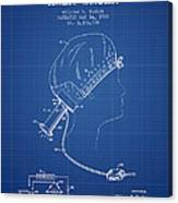 Portable Hair Dryer Patent From 1968 - Blueprint Canvas Print