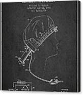 Portable Hair Dryer Patent From 1968 - Charcoal Canvas Print
