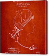 Portable Hair Dryer Patent From 1968 - Red Canvas Print