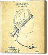 Portable Hair Dryer Patent From 1968 - Vintage Canvas Print