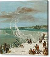 Portage Around The Falls Of Niagara At Table Rock Canvas Print