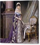 Portait Of Empress Maria  Fyodorovna Canvas Print