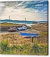 Portencross Harbour At Low Tide Canvas Print