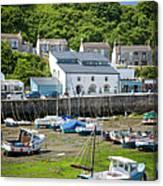 Porthleven Harbor - Low Tide Canvas Print