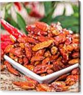 Portion Of Dried Chillies Canvas Print