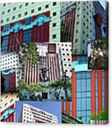 Portland Building Collage Canvas Print