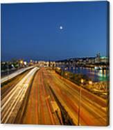 Portland City Blue Hour Canvas Print