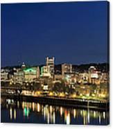 Portland Downtown Skyline At Blue Hour Canvas Print