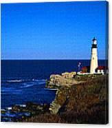 Portland Head Light Panoramic View Canvas Print