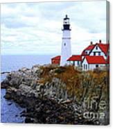 Portland Head Light House In Maine Canvas Print