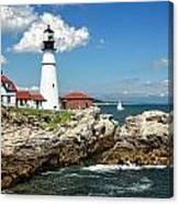 Portland Head Light In Maine Canvas Print