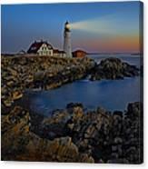 Portland Head Light Sunrise Canvas Print