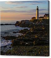 Portland Head Lighthouse At Dawn Canvas Print
