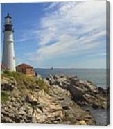 Portland Head Lighthouse Panoramic Canvas Print