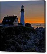 Portland Head Lighthouse Sunrise 2 Canvas Print