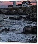 Portland Head Lighthouse Sunset Canvas Print