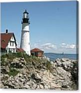 Portland Headlight Lighthouse 1 Canvas Print