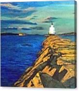 Portland Maine Harbor Canvas Print