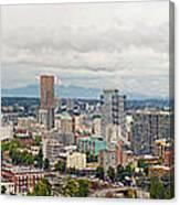 Portland Oregon Downtown View Panorama Canvas Print