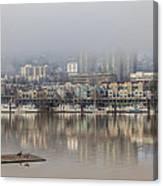 Portland Oregon Foggy Morning Canvas Print