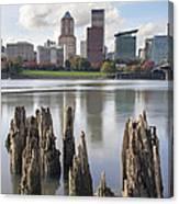 Portland Oregon Waterfront Canvas Print