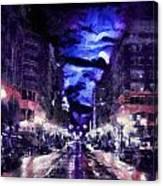 Portland Pastel Canvas Print