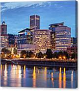 Portland Skyline Pm2 Canvas Print