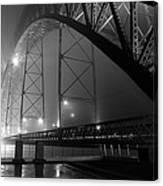 Porto @ Night Fog Canvas Print