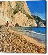 Porto Katsiki Beach In Lefkada Island Canvas Print